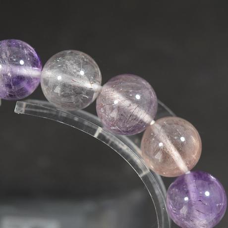 「セイクリッドセブン・ゲーサイトタイプ・珠径10.5mm・腕サイズ17cm」アメジストの中に広がる宇宙♪ [AE02.AE03]