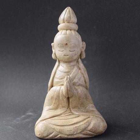 【注文制作品】「観音さま」粘土ならではの柔らかな曲線で祈りの形を表現しました