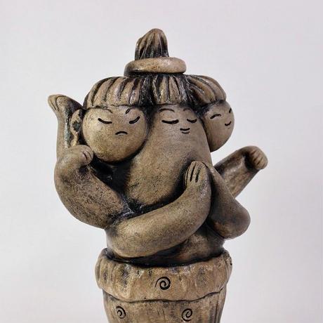 【限定1点】「阿修羅像(あしゅらぞう)」三面六臂の仏教の守護神を表現してみました