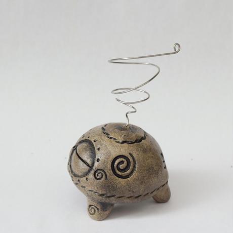 【注文制作品】土偶型エアープランツ用スタンド「土偶ぷらんつ君」◆ペン立てにもなるいかしたやつ♪