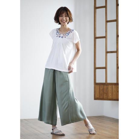 【在庫限り限定価格】竹布のフレアパンツ