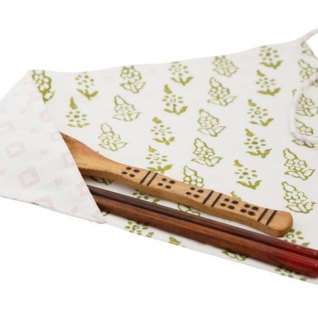 ブロックプリントのお箸袋