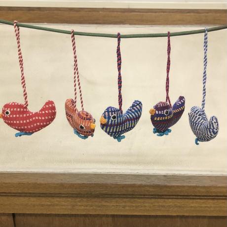 手織布のマスコット 鳥|15158