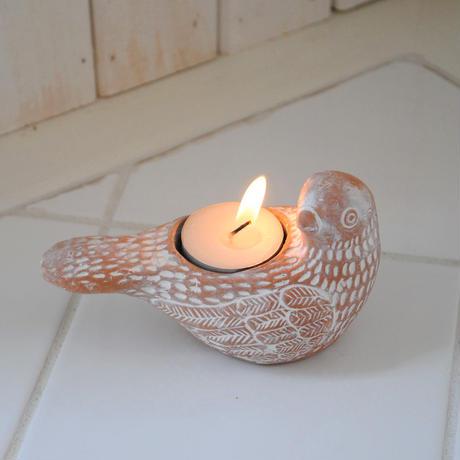 素焼キャンドル 平和の鳥 44009