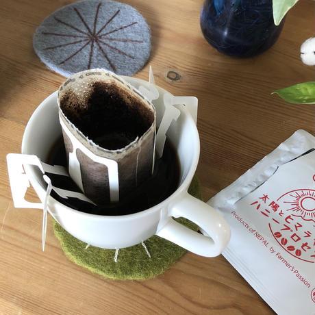 【ネコポス注文(1点まで)】太陽とヒマラヤの恵ハニープロセス珈琲ドリップパック(5個セット)|16110N