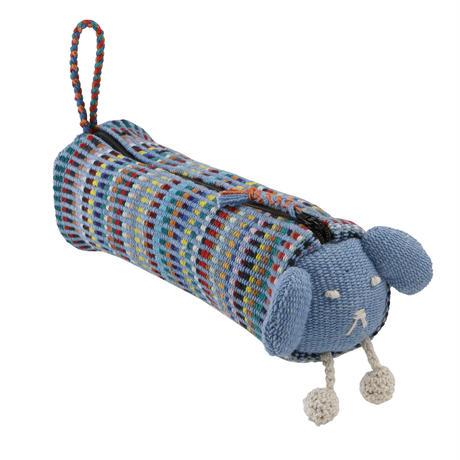 手織布のアニマルペンケース
