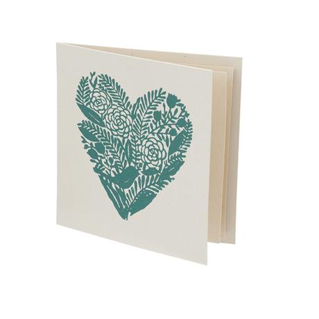 【ネコポス注文(4点まで)】手すき紙のカード ハート イエロー|10112