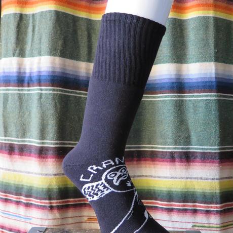 middle socks フクロウ
