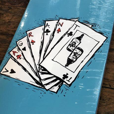 Vagrant skates Deck of Cards Teal 8.75