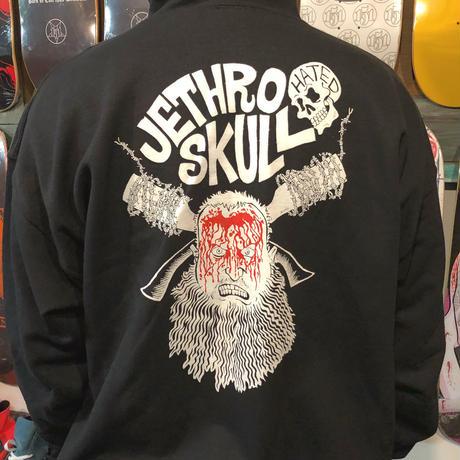 Jether skull Bloody face  ジップフード