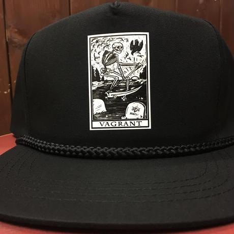 DEATH CARD  POPLIN HAT. Black