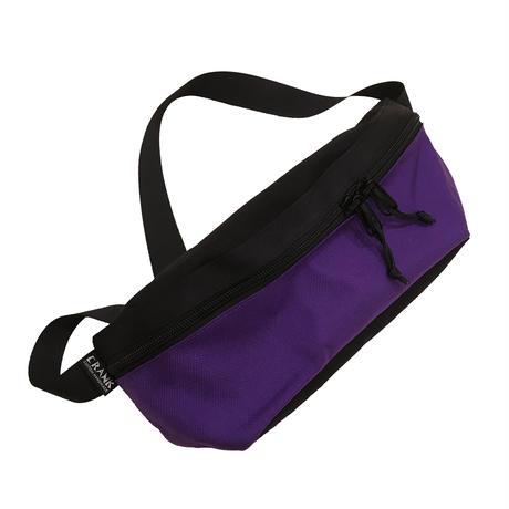 Hip bag  [Black x Purple]