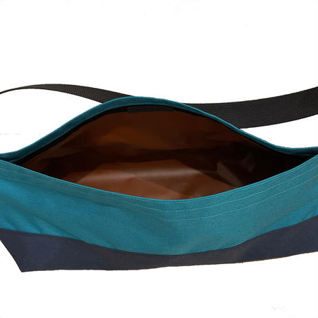 Non-Flap Sling NYC Large  [Dark turquoise x Navy]