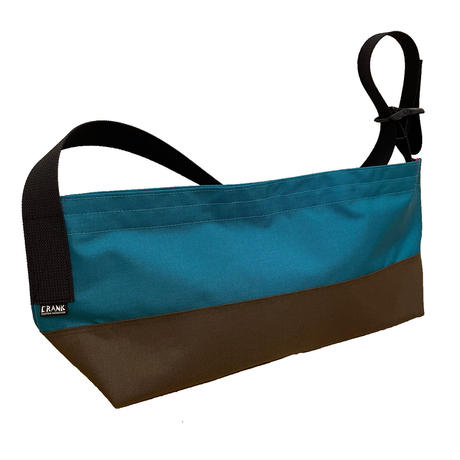 Non-Flap Sling NYC Small [Dark turquoise x Brown]