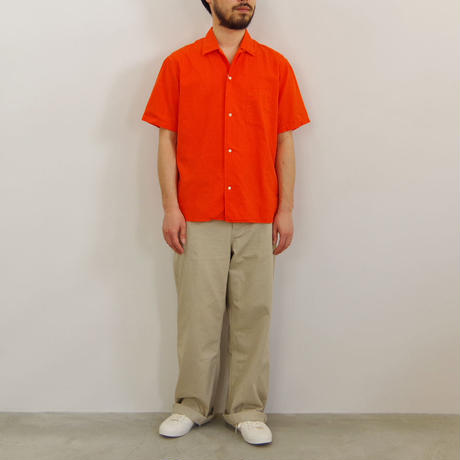 bunt / S/S OPEN COLLAR SHIRTS / col.オレンジ / size 2