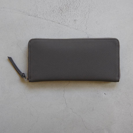 ERA. / BUBBLE CALF ROUND SLIM WALLET / col.グレー