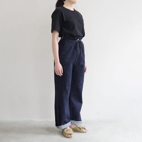 brassband / BACK STRAP DENIM PANTS / col.INDIGO O.W / Lady's