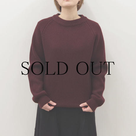 bunt / 5G GRANDFATHER SWEATER / Lady's / col.ブラウン / size 2