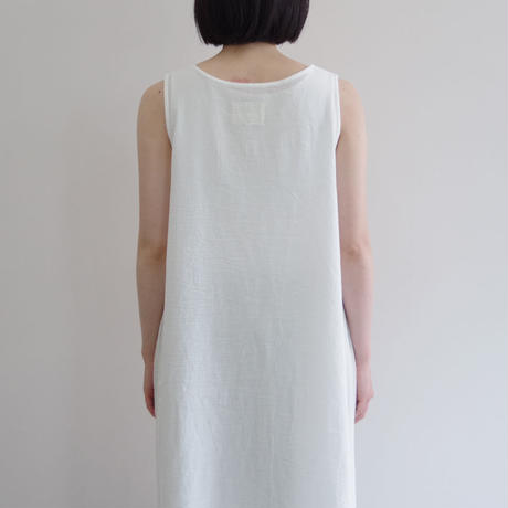 Vlas Blomme / Baby Cotton レイヤードワンピース / col.オフホワイト