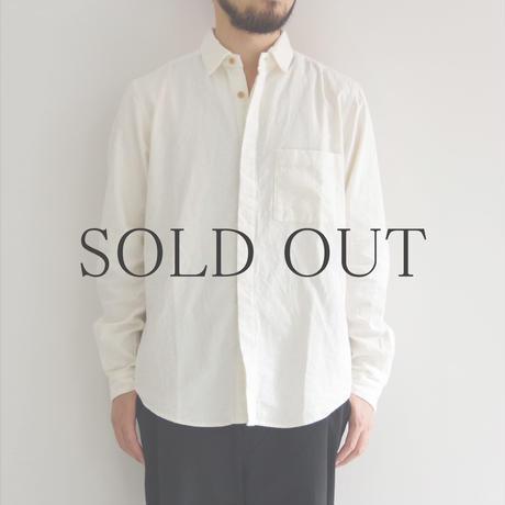 THE HINOKI / リネンコットンポケットワークシャツ / WHITE