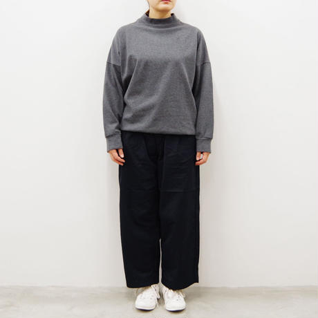 SETTO / GIZA COTTON WIDE TUCK PANTS / Lady's