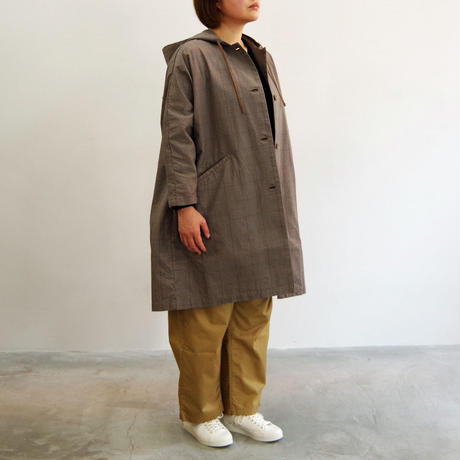 SETTO / DWP HOODED COAT / col.ベージュチェック