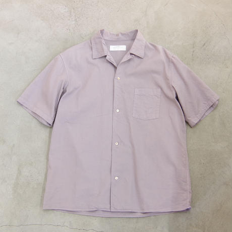 bunt / S/S OPEN COLLAR SHIRTS / col.グレー