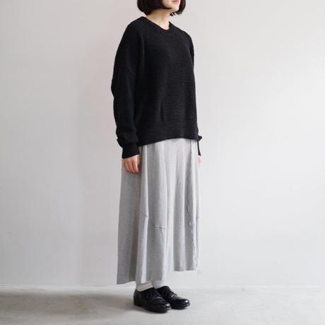 YOKO SAKAMOTO / WASHI WOOL OVER KNIT / col.ブラック / Lady's