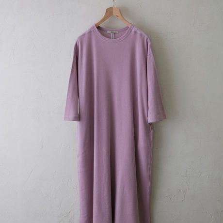 Vlas Blomme / & 12 Linen(Baby Waffle)ワンピース / col.グレーピンク