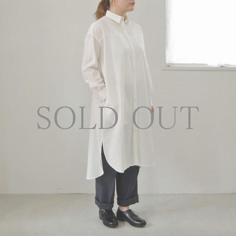 comm.arch. / TRICOT SHIRT ONE PIECE / col.ホワイト