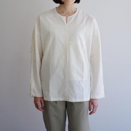 THE HINOKI / オーガニックコットンポプリン プルオーバーシャツ / col.ナチュラル