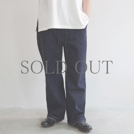 brassband / BACK STRAP DENIM PANTS / col.INDIGO O.W / Men's