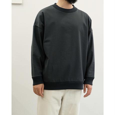 Blanc YM / Coating Sweat Shirt / col.BLACK / size.S