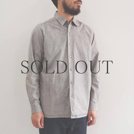 THE HINOKI / 高密度コットンブロードシャツ / col.グレー