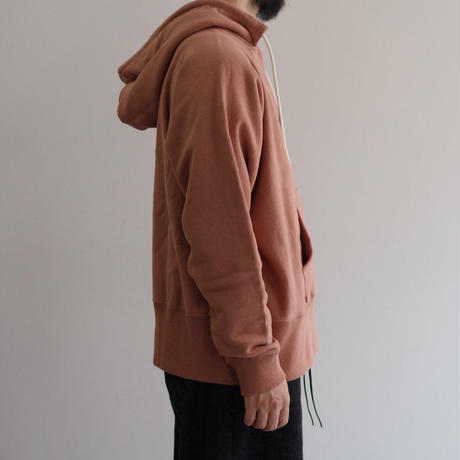 bunt / LOOP WHEEL CREW SWEAT PARKA  / col.コーラル / Men's
