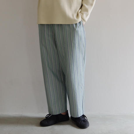 bunt / STRIPE EASY PANTS / col.グリーン