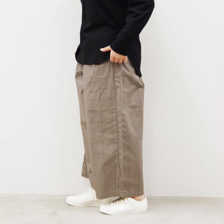 SETTO / DWP WIDE TUCK PANTS / col.ベージュチェック