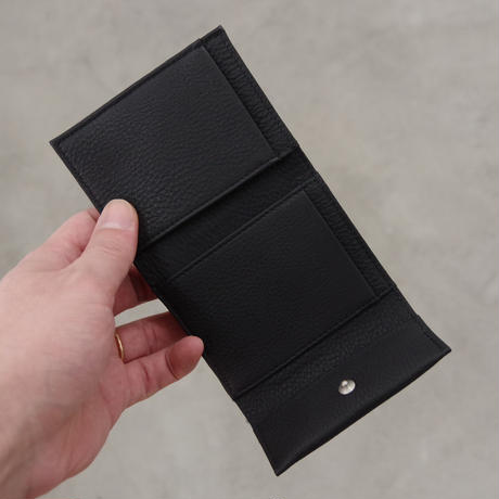 ERA. / BUBBLE CALF MINI WALLET / col.ブラック