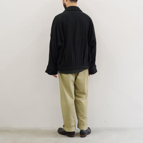 YOKO SAKAMOTO / OVER COACHES JACKET / HERRINGBONE