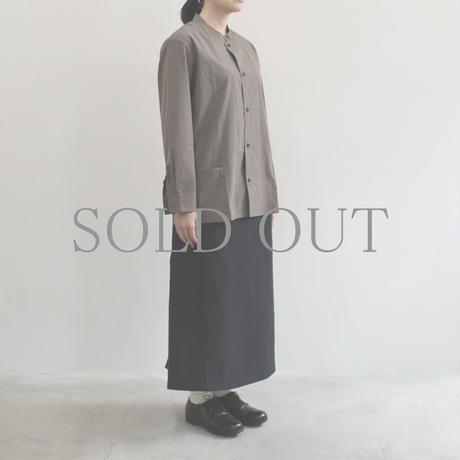 THE HINOKI / コットンウール馬布 イージースカート  / col.ブラック