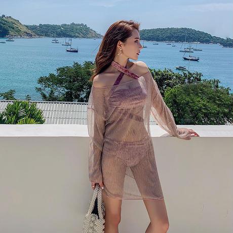 韓国 水着 ワンピース 大きいサイズ 可愛い ベルベット