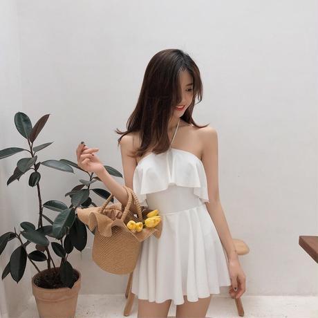 レディース 水着 体型カバー プチプラ 韓国 可愛い 大きいサイズ ワンピース  海外 ビキニ タンキニ