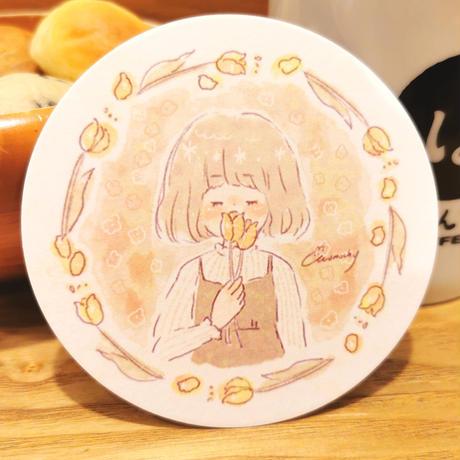 [momochy × ぽんでCOFFEE]コースター(単品)