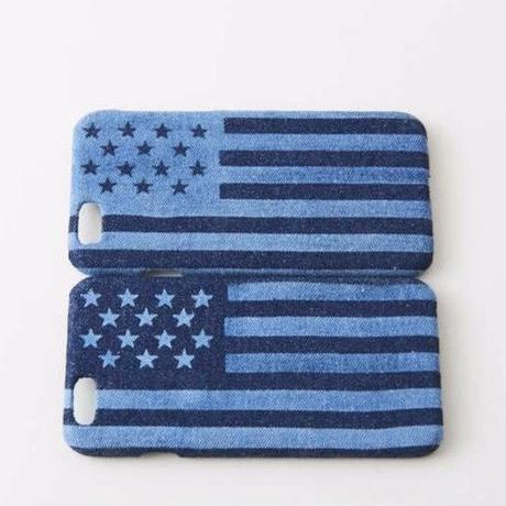 iPhone デニムハードケース  #星条旗