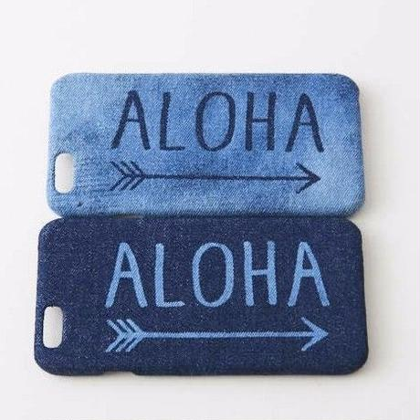 iPhone デニムハードケース  #ALOHA→