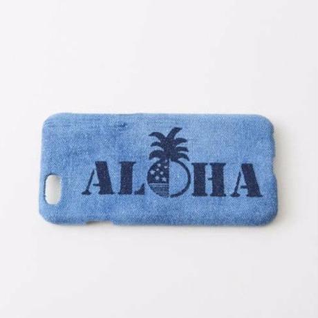 iPhone デニムハードケース  #ALOHA