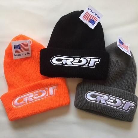 CREDIT RACING LOGO WATCH CAP・MADE IN USA  オレンジ