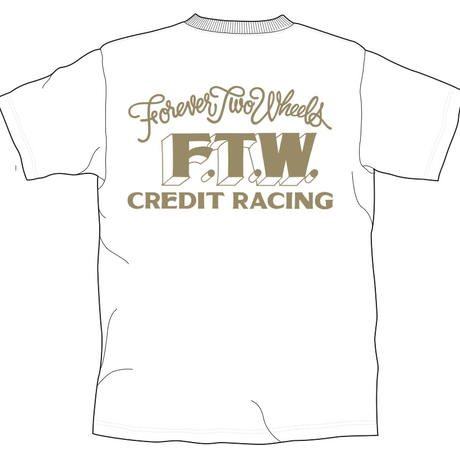 "CREDIT × F.T.W. ""Forever Two Wheels""・White × Gold"