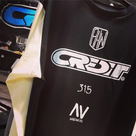 "CREDIT ""Board Track Racers"" メッシュジャージ・Black/White"