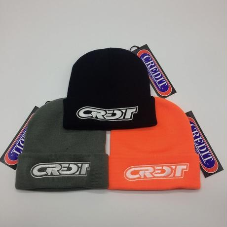 CREDIT RACING LOGO WATCH CAP・MADE IN USA  黒